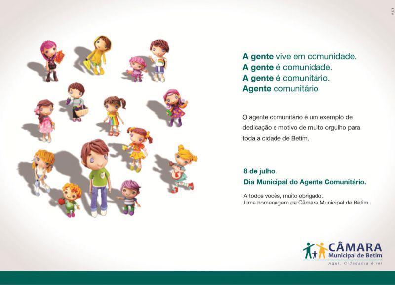 Dia mundial do agente comunitário - Anúncio